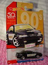 '99 Ford Mustang #6 Noir ; Shérif 90s 2018 Hot Wheels Cible Throwback Decades