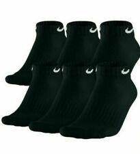 Nike Men's Socks Cushioned Low Cut Dri-Fit Cotton Black 6 Pack Pair