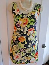 Ladies size 8 Motel navy blue floral long sleeveless summer top