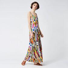 1d15cfac345 Warehouse Rainbow Ikat Strappy Maxi Dress Size UK 12 Lf085 FF 20