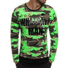 Sudaderas de hombre de manga larga de color principal verde 100% algodón