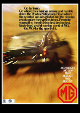 MG MGBGT 1969 MGB GT RETRO POSTER A3 PRINT FROM CLASSIC ADVERT
