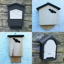 More details for bat boxes wooden bat house, woodstone bat box, mammal box house wildlife habitat