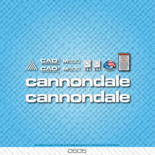 Cannondale M500 Bicycle Decals - Transfers - Stickers - White - Set 0505
