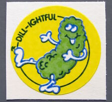 Vintage TREND Stinky Stickers DILL PICKLE matte Scratch-N-Sniff sticker - no TM