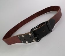 Handmade Leather Belt Riveted Distressed Brown 43 44