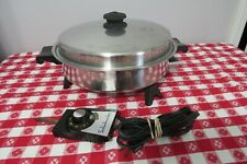 "Saladmaster 11"" Electric Skillet #7817 w/Vapo Lid/Control - Great Condition"