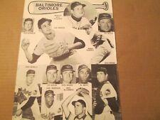 JKW 1963 Baltimore Orioles POWELL,BROOKS ROBINSON..REDUCED