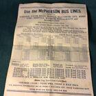 North Carolina BUS, TRAINS, STEAM SHIP Paper Schedule 1928