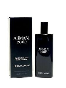 Armani Code by Giorgio Armani Men Cologne 0.5oz-15ml EDT Travel Mini Spray (BA02
