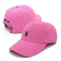 Classic RL Polo Small Pink Embroidery Pony Baseball Cap Womens Adjustable Hat