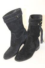 Michael Kors NEW MISMATCH 6.5 6 M Rhea Womens Black Suede Pull-On Boots qj