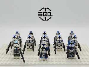 13Pcs Star Wars 501st Legion Captain Rex Jesse Echo Minifigures Fit Lego toys
