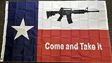 3x5 Texas Come and Take It M4 Carbine Rifle Flag Polyester Protest Banner Gun