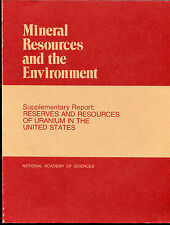 Reserves and Resources of Uranium in the United States : Mineral Resources...