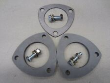Exhaust Flange Kit 2.25 Inch 3 Bolt Mild Steel Laser Cut 8mm Thick