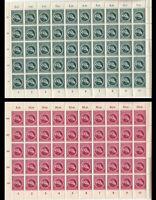 SALE Stamp Germany Sc B284-5 Sheet 1944 WWII War Era Vienna Racehorse MNH