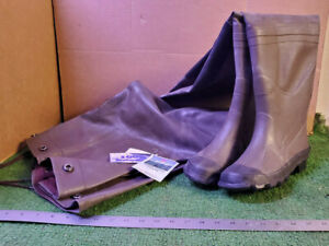 1 NEW PAIR PRO LINE #2012 RUBBER CHEST WADERS/INSULATED/KNEE PADS SZ 6 NNB