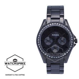 Fossil Riley Multifunction Black Stainless Steel Watch ES4519
