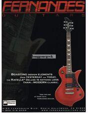 2002 FERNANDES Ravelle Deluxe Electric Guitar  Vintage Ad