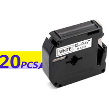 3pk Compatible for Brother P-touch M-k231 Black on White Label Tape Mk231 12mm