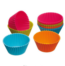 Silicone Cupcake Liner Muffin Cookie Mold For Home Baking Tool Accessories 12pcs