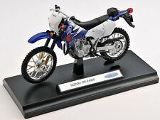 BLITZ VERSAND Suzuki DR-Z400S blau / blue Welly Motorrad Modell 1:18 NEU & OVP