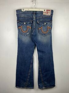 """Men's TRUE RELIGION """"JOEY""""Distressed Flared Boot Jeans Sz: 36x33 (Actual:38 x34)"""