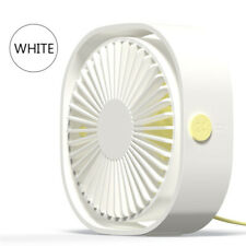 Small Desk Table Fan Personal USB Air Circulator Mini Portable Retro & Quiet