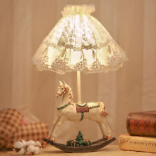 Sweet European Princess Horse Lace Bedside Desk Lamp Table Lamp for Girl Kids