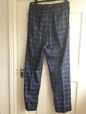 BN M&S David Gandy Size Small Blue Check Cotton Pj/Loungewear Bottoms