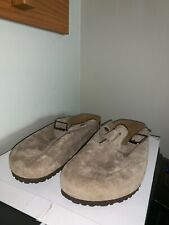 NEW Mens Birkenstock Boston Soft Footbed Closed Toe Suede Leather Sandals US 17