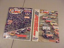 LOT OF 2 1998/1999 MARTINSVILLE,SPEEDWAY NASCAR NAPA 500,RACE PROGRAMS,AUTOCARE