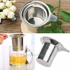 Stainless Steel Mesh Strainer Tea Herb Leaves Coffee Infuser Filter Reusable