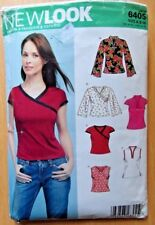 NEW LOOK Sewing Pattern no.6405 Ladies TOPS sizes 8-18