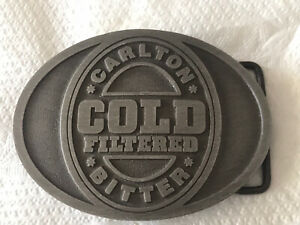 CARLTON COLD FILTERED BITTER BELT BUCKLE MADE IN AUSTRALIA 8.5X6.5CM