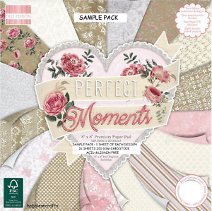 DOVECRAFT PERFECT MOMENTS 8 x 8 Sample Paper Pack 200gsm 1 sheet of each design