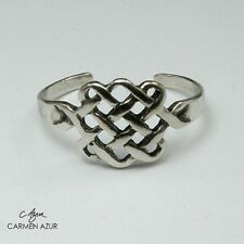Solid 925 Sterling Silver Toe / Midi Ring Celtic Knot Design New with Gift Bag