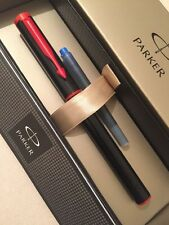 NEW PARKER BETA BLACK & RED FINE NIB FOUNTAIN PEN-GIFT BOX