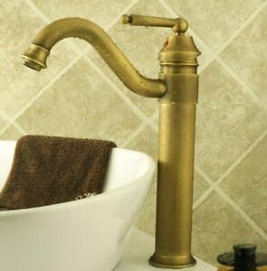 Kitchen Wet Bar Bathroom Vessel Sink Faucet Antique Brass Single Hole enf018