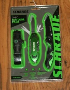 Schrade 3-Pc Outdoor Pack. New