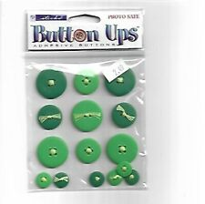 Button Ups Adhesive Buttons - Photo Safe Green Color