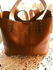 Sportlich-elegante Shopper Bag Schultertasche braun/camel, neu,