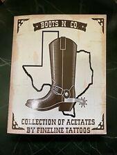 "VINTAGE ACETATE ""BOOTS"" FINELINE TATTOOS HOUSTON,TX LEGEND BOOK"