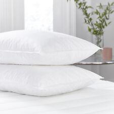4 X 100% Cotton Premium Luxury Goose Feather & Down Pillow Cushion Extra Filled