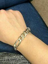 "8"" Sterling Silver Italy Figaro Chunky Bracelet"