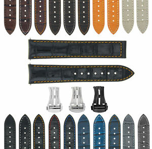 18-19-20-22-24MM LEATHER WATCH BAND STRAP FOR OMEGA SEAMASTER PLANET SPEEDMASTER