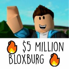 ✅🔥 ROBLOX Welcome To Bloxburg 🔥✅               ✅🔥$5,000,000 In-Game Cash 🔥✅