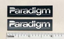 Paradigm Speakers Custom Made Aluminum Speaker Badge Pair Free Shipping