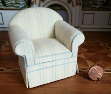 DOLLHOUSE MINIATURES LEE'S MINIS CHECK CHAIR SCALE 1:12